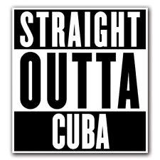 STRAIGHT OUTTA CUBA - Decal Macbook Air Laptop Truck Car Skin Sticker Pro iPad