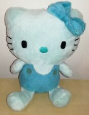 Peluche hello kitty 20 cm blu pupazzo originale sanrio raro gatto cat plush toys