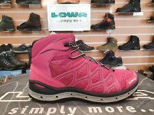 LOWA 2017 Aerox GTX QC Berry/Silver Women's Walking Shoes UK 5
