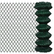 #vidaxl 1x25m Chain Link Mesh Fence Garden Netting Galvanised Steel PVC Coated