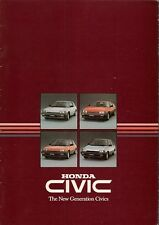 Honda Civic 1984 UK Market Sales Brochure Deluxe S Hatchback Shuttle CRX