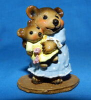 WEE FOREST FOLK SIGNED AP ANNETTE PETERSEN NAPTIME WITH DOLLY BEARS BB-14