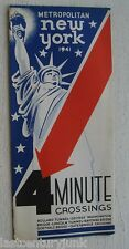 Brochure For 4 Minute Crossings Metro New York 1941