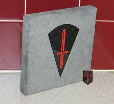 Hand Crafted Commando Dagger on Granite Plaque / Sign ( 100% UK manufactured