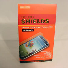 DOUBLE SHIELDS PREMIUM PHONE SCREEN PROTECTOR FILM FOR GALAXY S4 #68-AA