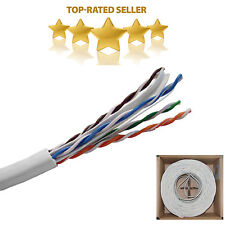 CAT6 1000FT 23AWG Solid UTP Network Ethernet Cable 550MHZ Bulk Wire RJ45 White