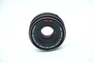 Konica Hexanon AR 40mm f1.8 Pancake Prime lens.