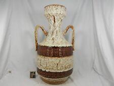 70´s JOPEKO thick Fat Lava glaze Keramik floor vase with two handles 311 / 50
