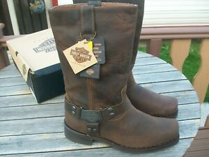 HARLEY-DAVIDSON BROWN IROQUOIS BOOTS NEW IN BOX. SIZE UK 12