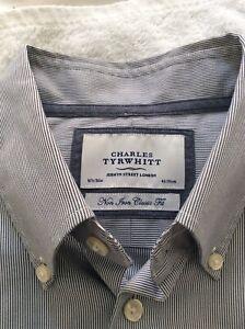 CHARLES TYRWHITT JERMYN STREET MENS SHIRT 16.5 COLLAR NON IRON EX. COND.