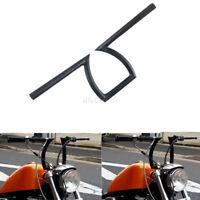 "Moto Guidon Z Style 25mm 1"" Noir Coutume Hachoir Pour Harley Honda Yamaha Suzuki"