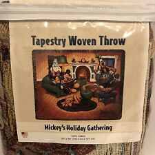 "Mickey's Holiday Gathering-Disneyland Resort 60""x50"" Tapestry Throw 100% Cotton"