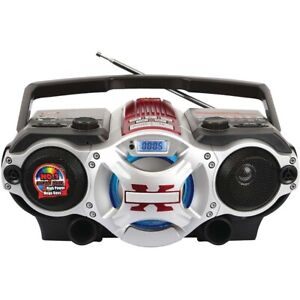 Supersonic - Bluetooth Portable MP3 Player Boombox with AM/FM Radio
