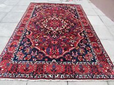 Vintage Hand Made Traditional Rug Oriental Wool Rich Red Large Carpet 308x208cm
