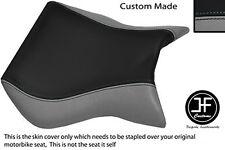 Negro y Gris se ajusta Cagiva Mito personalizado de vinilo 125 95-07 frente cubierta de asiento solamente