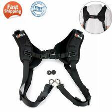 Quick Rapid Double Dual Shoulder Sling Belt Strap for 2 Digital SLR DSLR Cameras