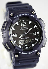 Casio AQ-S810W-2A2 SOLAR POWER Watch Blue World Time 5 Alarms 100m WR New