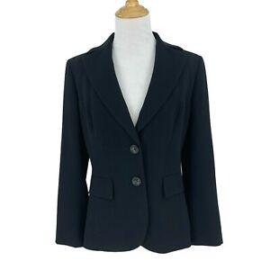 Ann Taylor Blazer Women's Size 2 Black 2-Button Business Career Sport Jacket New