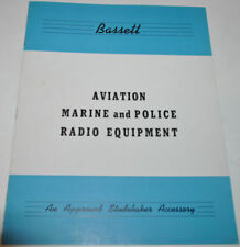 1941 Studebaker Bassett Aviation Marine Police War Radio Equipment Brochure