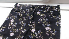 NEW LOOK ***NEW*** ===GORGEOUS===Black Floral+++STRETCH+++ Skinny Jeans Size 10