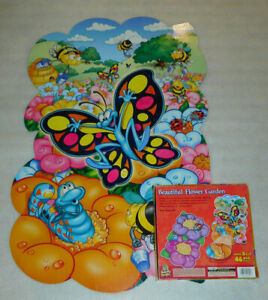 Beautiful Flower Garden Two Sided Floor Puzzle 46 Puzzle Patch Ladybug Bumblebee