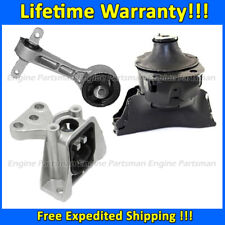 K1476 Motor/Top Torque/Trans Mount Set 3pc For 06-11 Honda Civic 1.8L MANUAL