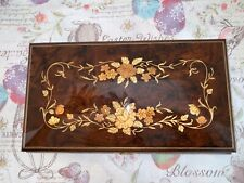 The San Francisco Music Box Co Floral Inlay Jewelry Box Wind Beneath My Wings