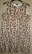 Vestido De Verano siguiente Estampado de Leopardo Tamaño 16 nuevo Browns beiges