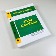 SERVICE MANUAL FOR JOHN DEERE 3300 COMBINE REPAIR TECHNICAL SHOP