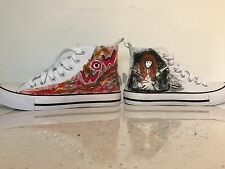 Original design hand painted sneakers. Painted to your specifications.
