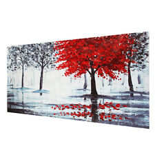Red Forest Canvas Modern Home Wall Decor Art Painting Picture Print  U1
