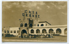 Casa Grande Hotel C Valles SLP Mexico RPPC Real Photo postcard