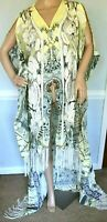 New NWT Camilla Franks Handiras Hold Embroidered Kaftan Dress Long Drape Jacket