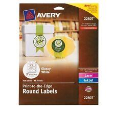 "Avery Easy Peel Print-to-the-edge Label - 2"" Diameter - 120 / Pack - (ave22807)"