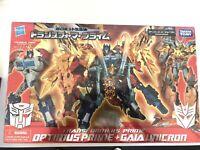 Hasbro Takara Tomy Transformers Optimus Prime Gaia Unicron Year Of The Snake