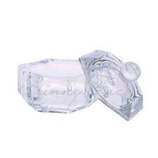 Container Crystal Glass Lovable Nail Art Liquid Dish Bowl Cup Powder Lid HYUK