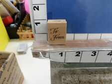 saying to from elegant tag rubber stamp 8p