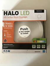 Halo Smd 5 in. and 6 in. Recessed Round Surface Mount Ceiling Light Smd6R6930Wh