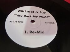 "RARE MICHEAL JACKSON & JAY-Z YOU ROCK MY WORLD REMIX 12"" SINGLE+ALBUM/RADIO VERS"
