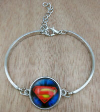 Superman Glass Tibetan Silver Charm Unlimited Bracelet Jewelry