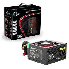 ACE 650W Black ATX Gaming PC PSU Power Supply 120mm Red