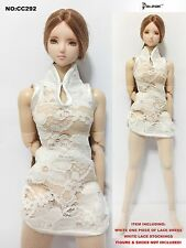 CC292 1/6 Clothing-Chinese One-piece of lace dress for HOT TOYS,CY GIRL,PHICEN