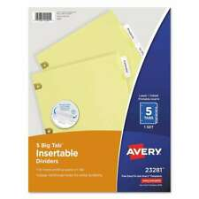 Avery Insertable Big Tab Dividers 5 Tab Letter 072782232818