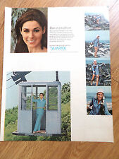 1967 Tampax Ad  at the Ocean On the Tramway Lift