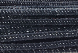 "Lot of 100 Black Wired Chenille Stems Craft Pipe Cleaners 12"" x 3mm 1/8"""