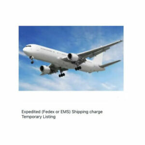 Expedited (DHL, FedEx or EMS) Shipping charge Temporart Listing