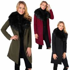 Faux Fur Polyester Women's Trench Coats