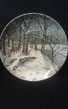 Knowles collector plate Winters Peace By Bart Jener's