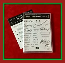 Stampin' Up! MERRY CHRISTMAS TO ALL Stamps & MERRY CHRISTMAS Dies