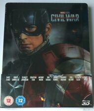 The First Avenger / Captain America Civil War 2D 3D Lenticular Steelbook NEU NEW